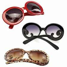 New Gradient Lens Women Sunglasses With Smoke Lens & Baroque Swirl Arms Eyewear