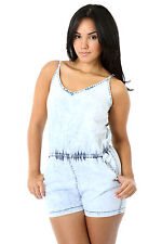 Cozy Denim Romper Fashion Dressy Women Casual Cocktail Party giti online