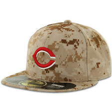Cincinnati REDS ALTERNATE 2 Camo New Era 59FIFTY Fitted Caps MLB On Field Hats