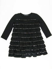 Biscotti Black & Silver Sequin Jersey Toddler Girls Party Dress Size 2T NWT $64