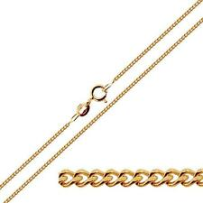 """375 9ct Solid Rose Gold 16 18 20"""" inch 1.1mm Fine Curb Chain Link Necklace"""