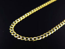 "Real 10K Yellow Gold Solid Diamond Cut Cuban Link Chain Necklace 18-26"" (2.5MM)"