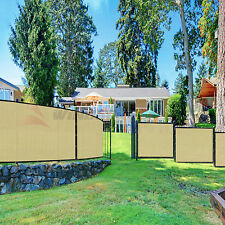Beige/Tan 4' 5' 6' 8' Height Fence Privacy Screen Windscreen Mesh Fabric Cover