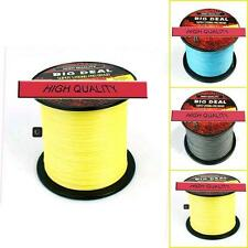 NEW USEFUL PE Dyneema Spectra Braid Fishing Line 100M 300M 500M 1000M 3Color