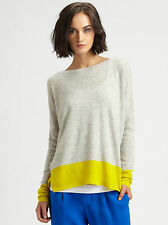 Vince Sweater Colorblock Sweater in Gray & Yellow XS NWT $145