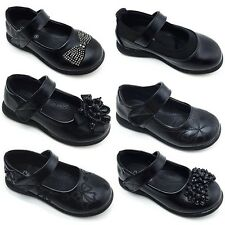 Girls School Shoes New Kids Infants Formal school shoes everyday shoes in black