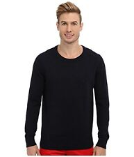 NEW MENS NAUTICA NAVY BLUE CLASSIC CREW NECK PULLOVER LOGO SWEATER   U PICK SIZE