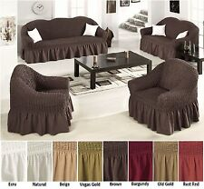 Elastic Stretch Slip Fit Sofa Covers Slipcover Couch Loveseat Arm Chair Cotton
