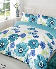 Daisy Teal Duvet Bedding Set - Single-Double-King size-Super King Size