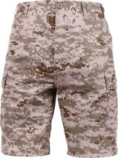 Mens Desert Digital Camouflage Military BDU Cargo Shorts