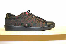 moschino x monogram sneakers new in box black and luggage brown