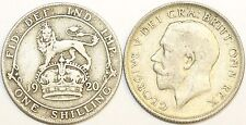 1920 to 1927 George V Silver Shilling First Design Your Choice of Date