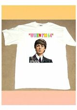 THE FAB FOUR When I'm 64 WHITE COTTON T SHIRT Paul McCartney IDEAL BIRTHDAY GIFT