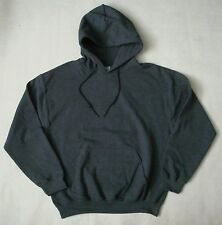 NEW Gildan Pullover Hooded Mens Dark Heather Grey  Sweatshirt Hoodie Many Sizes