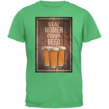 St. Patricks Day - Real Women Drink Beer Irish Green Adult T-Shirt