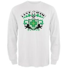 St. Patricks Day - Luck Of The Irish White Adult Long Sleeve T-Shirt