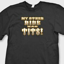MY OTHER RIDE HAS TITS Rude Biker Funny T-shirt Motorcycle Tee Shirt