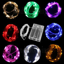 Colorful 2M 4.5V 20 LED Battery Operated Mini LED Copper Wire Fairy Light String