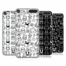 HEAD CASE DESIGNS DOODLE OWL CASE COVER PER APPLE IPOD TOUCH 5G 5A GENERAZIONE