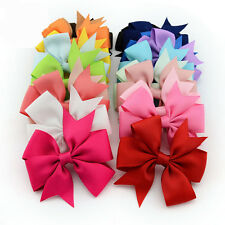 Sale 2 Pcs Girls Boutique Big Bow Hair Clips Grosgrain Ribbon Hairpin Headdress