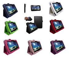 "Leather Smart Case Cover for Tesco HUDL2 8.3"" Tablet & Screen Protector & Stylus"