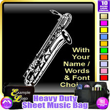 Sax Baritone Picture With Your Words - Sheet Music & Accessories Bag MusicaliTee