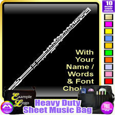 Flute Picture With Your Words - Sheet Music & Accessories Bag by MusicaliTee
