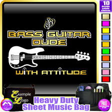 Bass Guitar Dude With Attitude - Sheet Music & Accessories Bag by MusicaliTee
