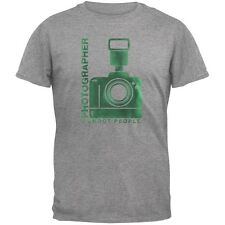 Photographer Shoot People Funny Heather Grey Adult T-Shirt