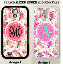 SHABBY CHIC VINTAGE ROSES MONOGRAM PHONE Case For Samsung Galaxy S9 S8 NOTE 8 5
