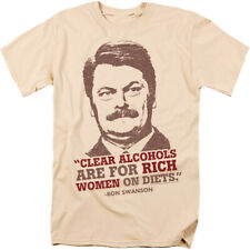 Parks And Recreation Ron Swanson Rich Women Licensed Adult Shirt S-3XL