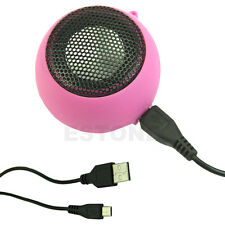 3.5mm USB Portable Hamburger Rechargeable Speaker For iPod iPhone Laptop Mini