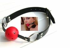 2015 Sexy Mysterious Leather Harness Mouth Soft Solid Ball Gag Mouth Plug  GOUS