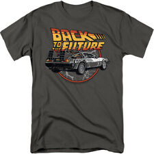 Back To The Future Movie Time Machine Delorean Licensed Adult Shirt S-3XL