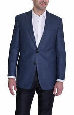 Ralph Lauren Classic Fit Blue Houndstooth Two Button Silk Blend Blazer Sportcoat