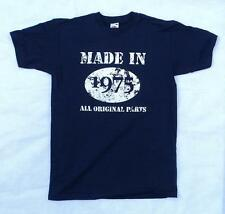 Made in 1975 All Original Parts t shirt, 40th Birthday gift present idea