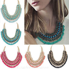 Hot Fashion Jewelry Pendant Chain Crystal Choker Chunky Statement Bib Necklace -