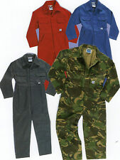BOYS GIRLS BOILER SUIT OVERALLS VELCRO FASTENING   WORK PLAY  PAINT BALL