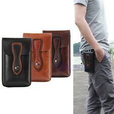Retro PU Leather Belt Holster Loop Pouch Pocket Bag Case + Buckle For Cell Phone