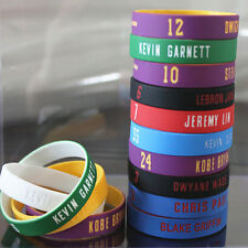 Silicon Rubber Wristband Basketball Stars Rubber Bracelet