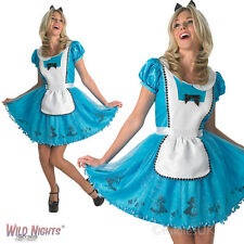 LADIES DISNEY SASSY ALICE IN WONDERLAND FAIRYTALE FANCY DRESS COSTUME