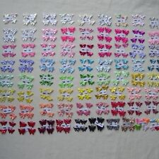 25 SMALL MIXED BUTTERFLIES 1.8CM -  2.1 CM APPROX (RED/BLACKS/MIXED)