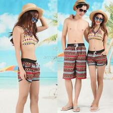 XXL Lovers Couple Boho Short Pants Womens Mens Beach Surf Board Swim Shorts A48