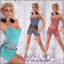 NEW european fashion BELT + OVERALL OUTFIT 4 6 8 ladies PETITE JUMPSUITS online