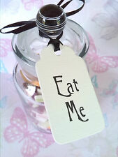 Eat Me Alice in Wonderland Party Tags Labels, Vintage Style, Candy Buffet Sweets