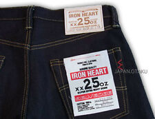HEAVY WEIGHT IRON HEART JEANS 25oz JAPANESE BIKER STRONG DENIM
