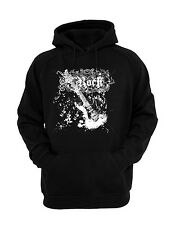 Rock 'n' Roll Guitar Hoodie Black  Hooded Sweatshirt  Brand New