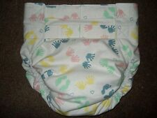 Dependeco All In One flannel adult baby diaper S/M/L/XL  (hands and feet)