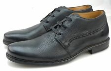 John Varvatos Norwich Mens Black Leather Lace-up Oxfords Made in Italy