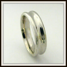 18 KT SOLID WHITE GOLD CUSTOM MADE WEDDING BAND FOR MEN AND LADIES DE 0019